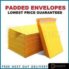 More details for padded bubble envelopes bags postal wrap - all sizes - various quantities gold