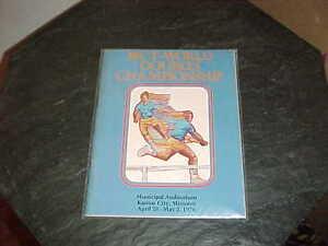 1976 WCT World Double Championship Tennis Program Kansas City
