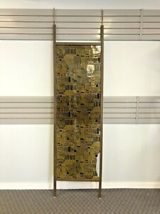 Vintage TENSION POLE ROOM DIVIDER mid century modern screen atomic panel art 50s