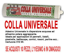 COLLA PER MONTAGGIO UNIVERSALE IN CARTUCCIA 2.9€ DA 310 ml.