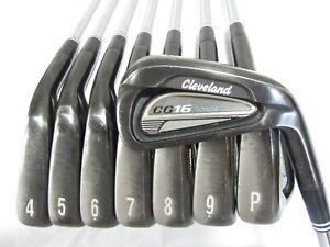 Used RH Cleveland CG16 Tour Iron Set 3-P Stiff Flex Steel Shafts