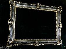 Bilderrahmen Schwarz-Gold Fotorahmen Barock Antik Hochzeitsrahmen 90x70 Prunk