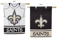 New Orleans Saints Flag 2 Sided NFL Foil Jersey House Banner Double Sided