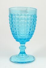 EAPG Blue Adams Thousand Eye Sensation Water Goblet Antique Pressed Glass
