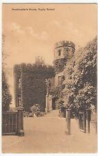 Warwickshire; Headmasters House, Rugby School, PPC, Rugby Station CDS 1918