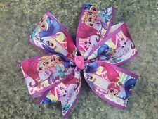 5inches pinwheel shimmer and shine Bows non slip alligator clip genie