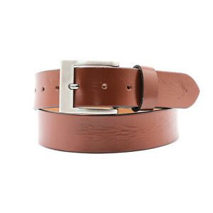 Mens Leather Belt Belts New Real Genuine Buckle Trouser Sizes Brown/ Black Jeans