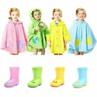 Girls Boys Kids Childrens Themed Animal Wellington Wellies Rain Boots Rain Macs