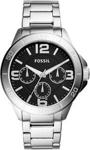 ORIGINAL FOSSIL Men's Modern Century Watch Stainless Steel Silver BQ2296 45mm