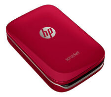 "Red HP Sprocket Portable Photo Printer Pocket-Sized Simple Mobile 2x3"" Printing"