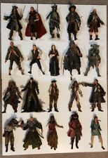 20 x Disney Pirates of the Caribbean NECA 7inch Action Figures with accessories