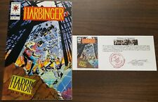 Harbinger (1992) #25 signed by Bob Layton with Notarized Witness of Signature