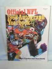 Vintage Official NFL 1968 Autograph Football Yearbook Very Good Condition