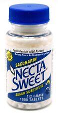 15 1000-Tablet Bottles 1/2 Grain Necta Sweet Saccharin Tablets NectaSweet