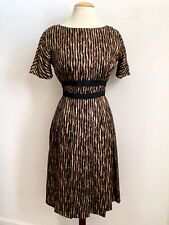 VINTAGE 1950'S KAY WINDSOR, THE LOOK YOU LOVE, BLACK BROWN STRIPED PRINT