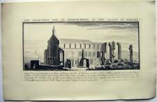 CASTLES BUCKS ANIQUITIES SAMUEL BUCK ENGRAVING BINHAM  PRIORY NORFOLK 1738