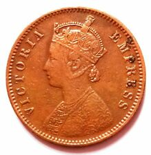 ★BRITISH INDIA 1884 VICTORIA QUEEN 1/4 ANNA  BEST GRADE COIN★