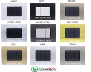 Placca Quadra 3M 4M 7M Compatibile Bticino Living Light