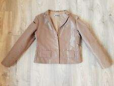 Jil Sander Beige Shiny Womens Blazer Jacket 34 UK 8/10