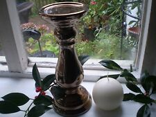 Danish Copper Coloured Ceramic Candle Stand and 100% Stearin Danish Ball CANDLE
