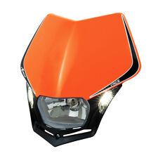 MASCHERINA PORTAFARO RACETECH V-FACE LED ARANCIO (Oran. Headlight) R-MASKARNR009