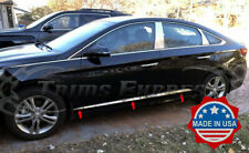 fit:2015-2019 Hyundai Sonata 6Pc Stainless Steel Body Side Molding Trim ABL