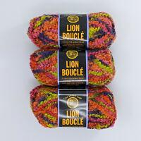 Lion Brand Boucle Gelato 3 Skeins 70g 57yd