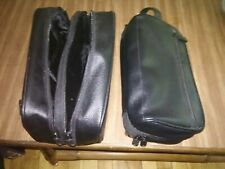 Set of Toiletry Cosmetics Make Up Black leather Travel bags