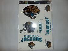 Jacksonville Jags Jaguars Window Clings WinCraft Sports NFL Football Stickers