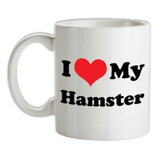 I Love My Hamster Mug - Gerbil - Pet - Cage