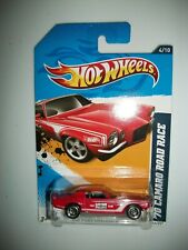 2012   HOT WHEELS  HW PERFORMANCE 70 CAMARO ROAD RACE