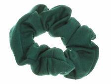 Bottle Green School Jersey Style Hair Scrunchie Elastic Bobble Work Gym Hair