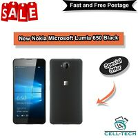 New Nokia Microsoft Lumia 650 Black 8GB 4G LTE Windows Unlocked Smartphone
