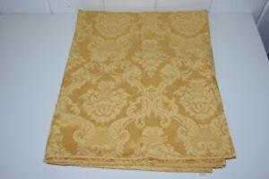 Gold Damask Tablecloth Rectangle Elegant Pattern 82 x 65 Yellow