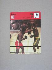 SPORTSCASTER FICHE CHAMPION BOXE BOXING JOE FRAZIER  MUHAMMAD ALI 1971 NEW YORK
