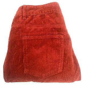 Glassons Red Coruroy Pants Womens Size 12 High Waisted