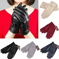 Gloves Women's Winter Warm Genuine Lambskin Leather Driving Fashion Soft Lining