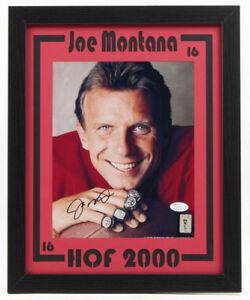 Joe Montana Signed 49ers 12.75 x 15.75 Custom Framed Photo Display (JSA COA)