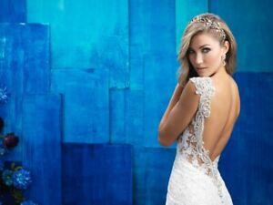 ALLURE WEDDING GOWN BRIDAL BRIDE DRESS SIZE 6 BRAND NEW!! FAIRYTALE ILLUSION