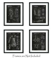 """4 Space Patent Prints - 8""""x10"""" Wall Art Decor - Great Gift for Aerospace Lovers"""