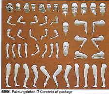 Preiser Modellfigur Eva. 7 Unbemalte Figuren 45901