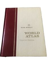 Vintage 1960's Rand McNally World Atlas  Imperial atlas 26-4343 original ship