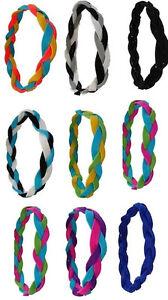 NEW! Braided Sports Headbands Hair Ties Softball - Team Colors - 40 Available