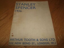 SIR STANLEY SPENCER-EXHIBITION CATALOGUE-SIGNED-1936-NEW BOND ST-MEGA MEGA RARE