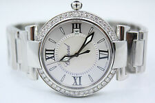 CHOPARD IMPERIALE 36MM STAINLESS STEEL DIAMOND ENCRUSTED WATCH 388532-3002