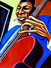 JIMMY GARRISON PRINT poster jazz upright double bass blue note cd john coltrane