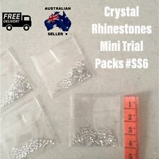 Rhinestone Crystal Gem Beads Glue On Nail Art Stones Ss#6 Clear Mini Sample Pack