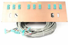 Custom ELCO Patch Bay Panel 9x 90-Pin ELCO w/ Belden 9769 Snake Cables