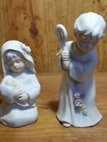 Vintage 1992 Porcelain Bisque Figurines Homco Holy Family Mary Joseph Baby Jesus