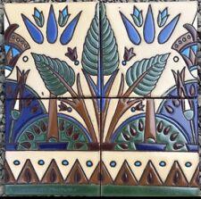 Art Deco Egyptian Revival Decorative 1ft X 1ft Hand-Painted Tiles